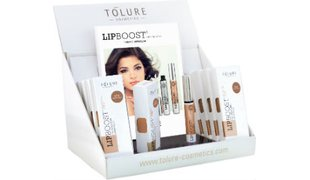 Tolure Lipboost® Caramel Rose Display (9pcs.+1 Sample) + 20 Folder